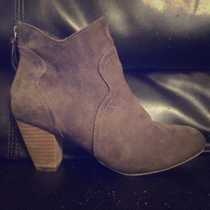 REPORT brown suede heel boots size 8